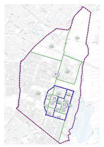 Bleiswijk wijk- en buurtindeling met nummers die corresponderen met de lijst van Bleiswijk