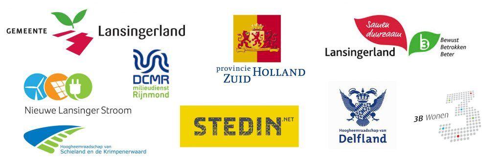 Banner met de logo's van alle stakeholders